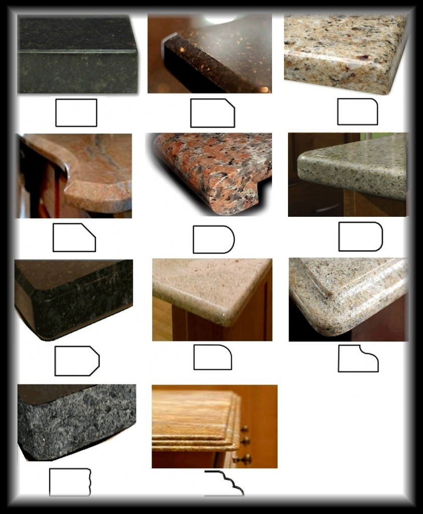 Countertop Stone Types : Types of Granite Countertops Granite Countertop Edge Types