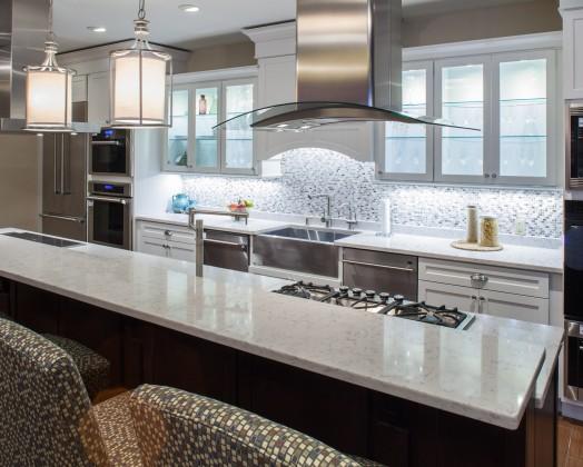 Lyra Silestone Kitchen with Pencil edge