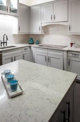 3cm Lyra Silestone Quartz Kitchen-View of Cook Top