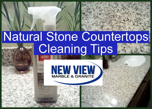 how to clean stone countertops