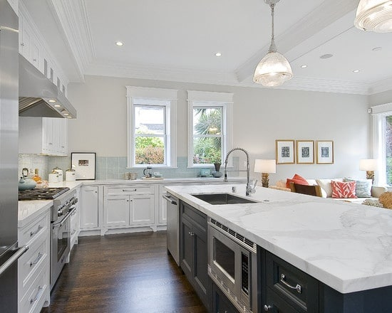 White Granite Countertops In Massachusetts