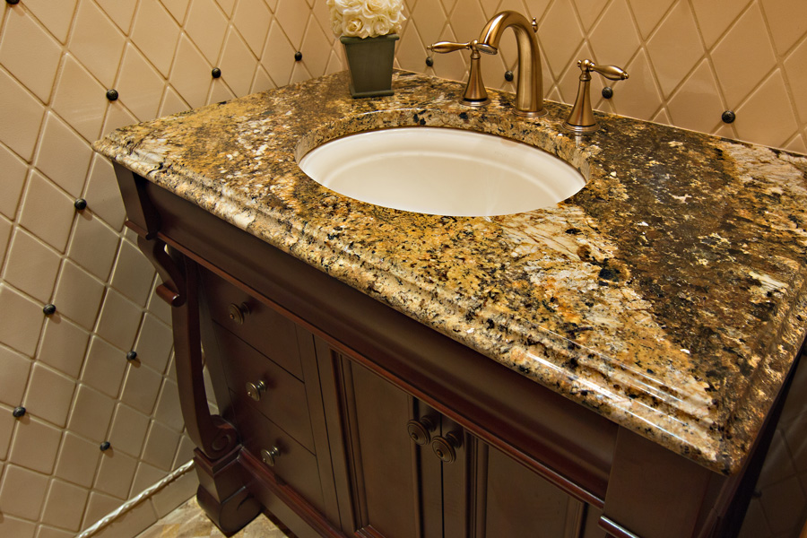 less countertops granite bathroom best for countertop intended idea