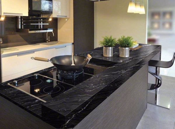 Kitchen Black Granite Countertops : Latest trend kitchens with black granite countertops in