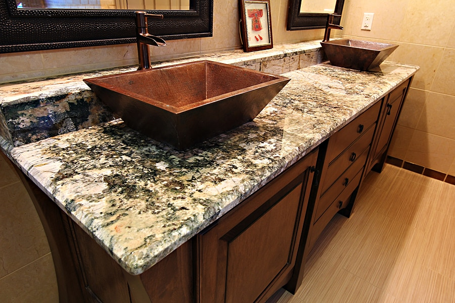 Granite bathroom countertops in franklin ma new view marble granite - Double sink vanity countertop ideas ...