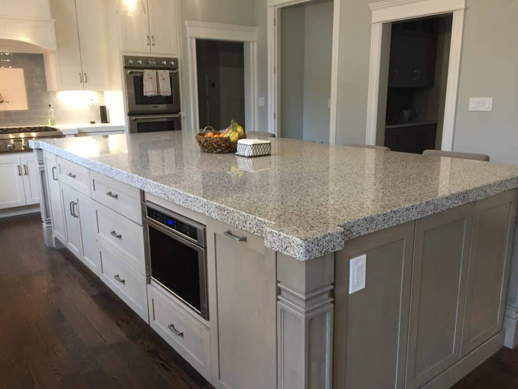 Granite kitchen countertops installation in franklin new for How thick is granite