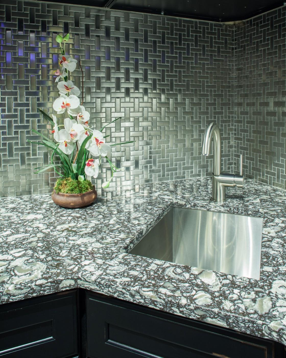 Braemar Cambria Kitchen, Sink And Backsplash Details